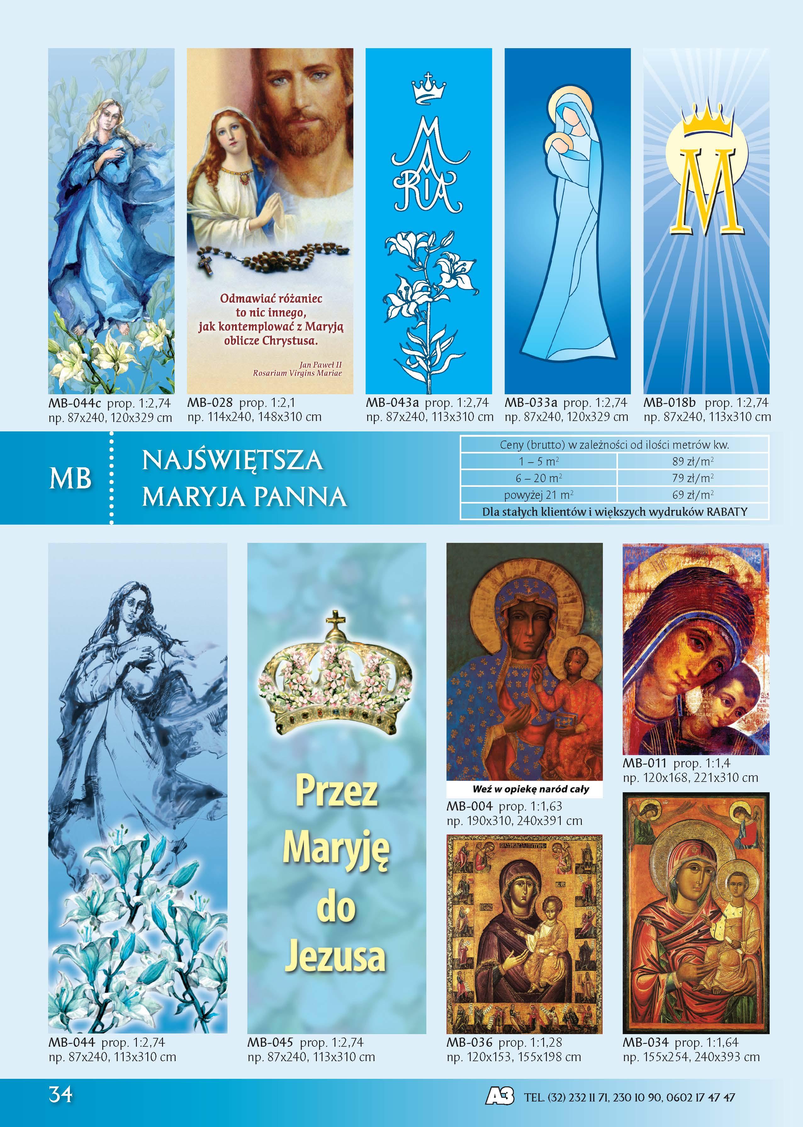 Banery z Najświętszą Maryją Panną