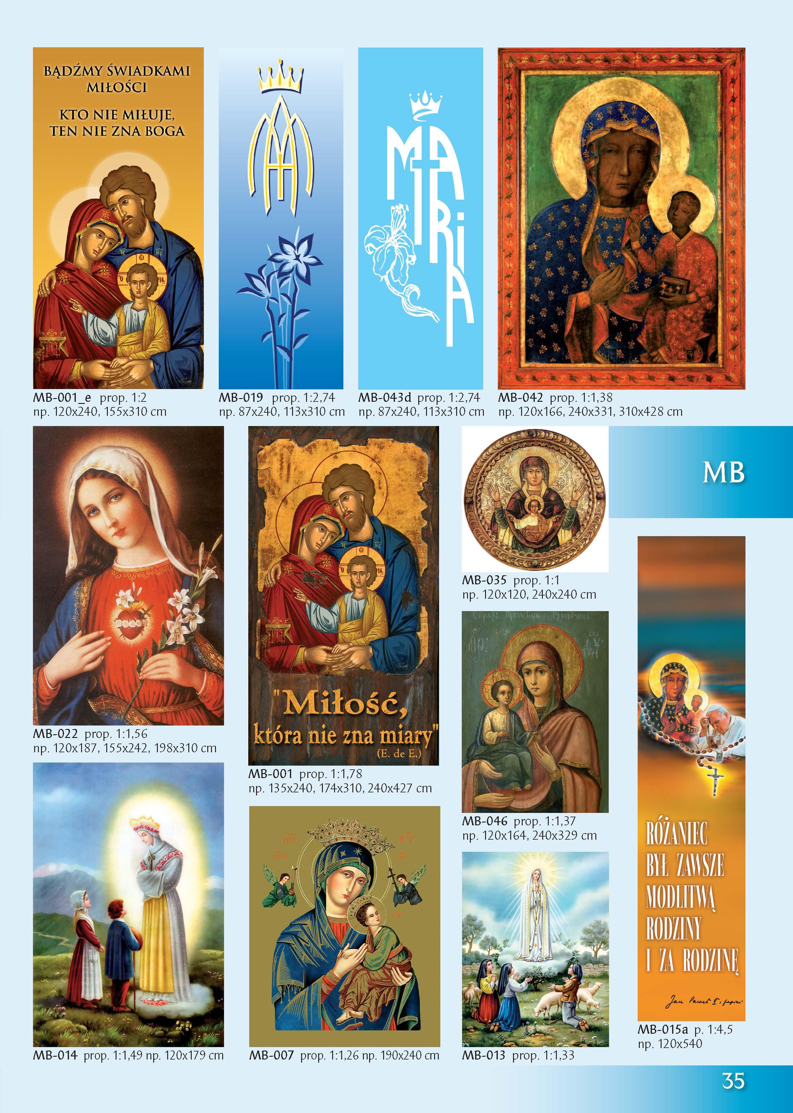 Obrazy z Najświętszą Maryją Panną
