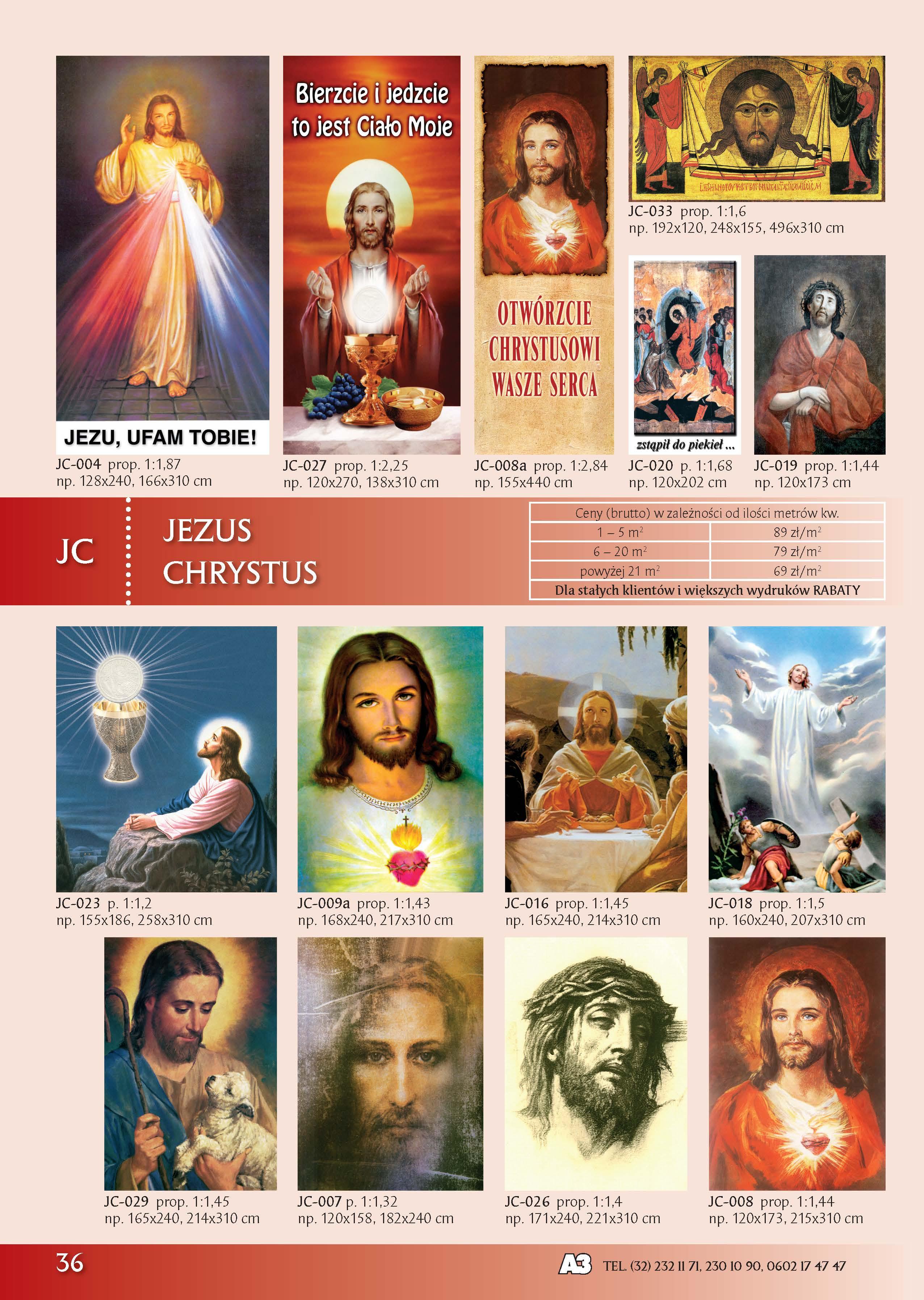 Banery z Jezusem Chrystusem