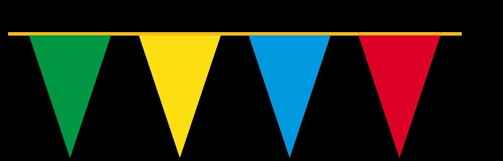 Girlandy kolorowe (x 4)