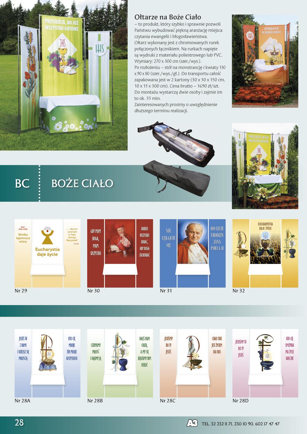 Katalog Grafik Religijnych 2020 - Ołtarze na Boże Ciało