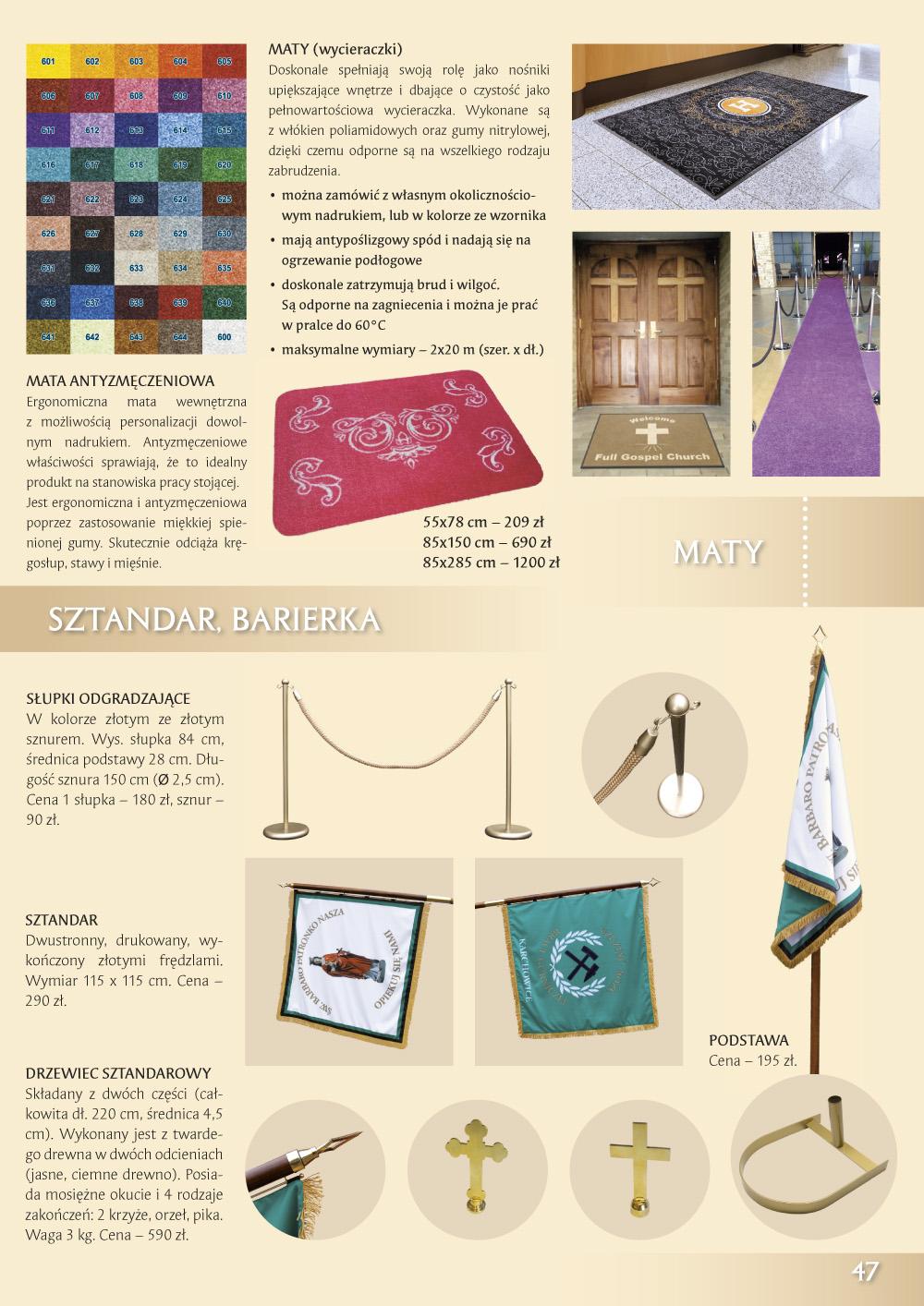Katalog Grafik Religijnych 2020 - Sztandary Barierki
