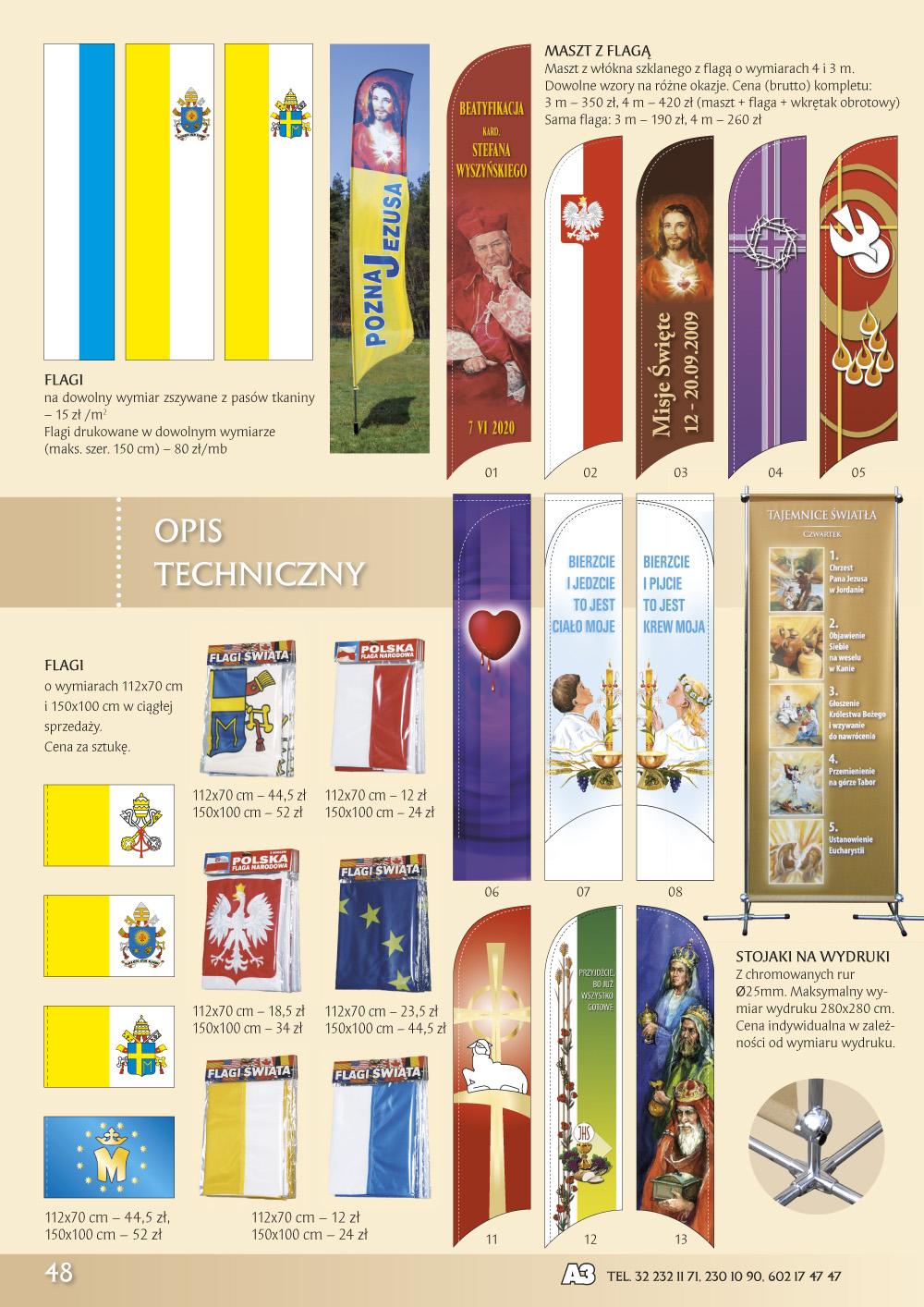 Katalog Grafik Religijnych 2020 - Flagi