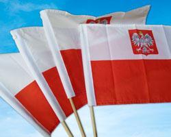 Flaga na Drewnianym Drążku