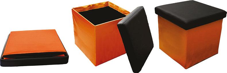 składana kostka pufa do siedzenia